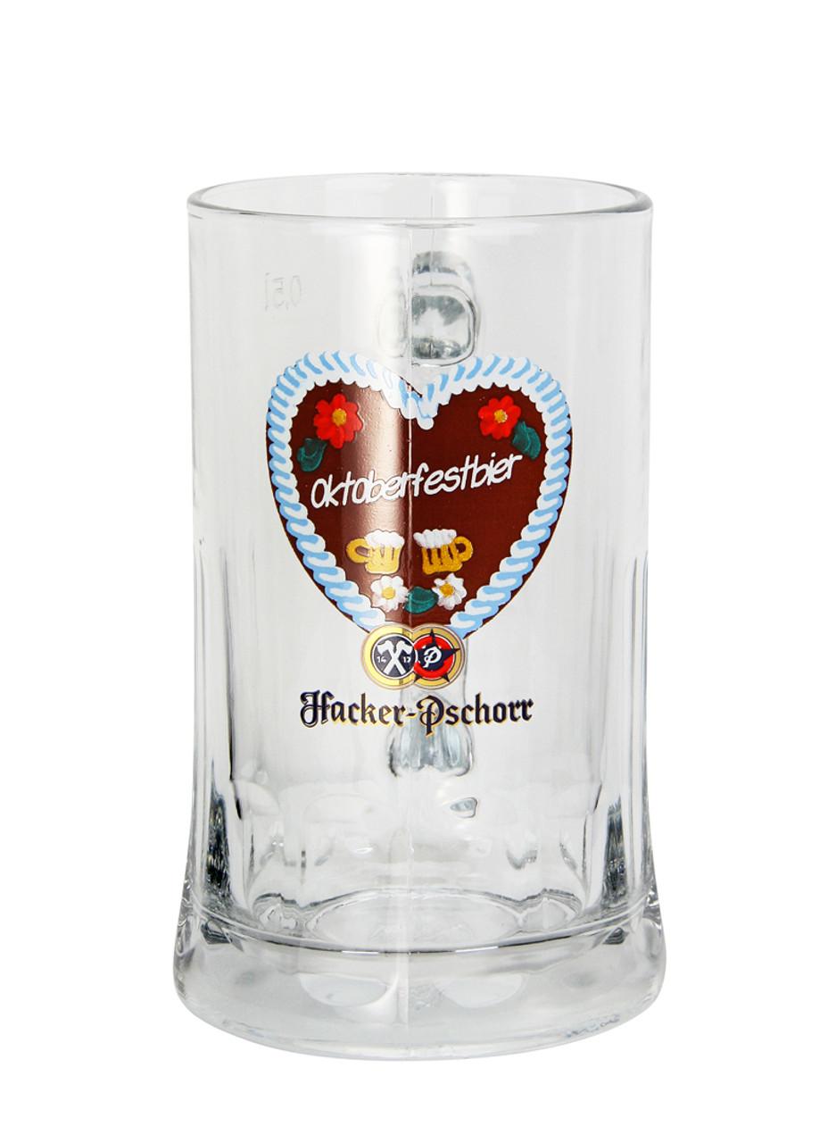 Hacker Pschorr Oktoberfest Glass Beer Mug