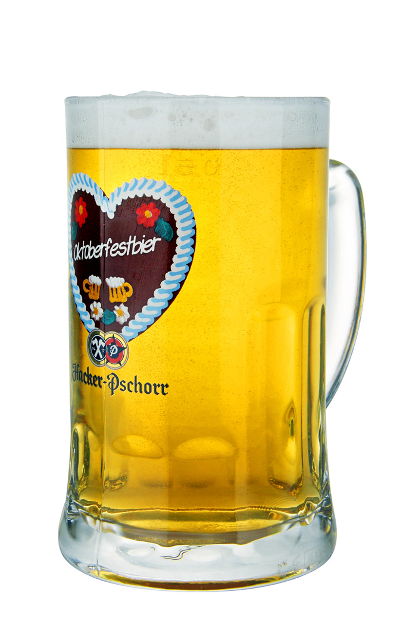 Munich Oktoberfest Hacker Pschorr Glass Beer Mug