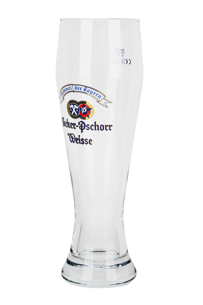 Traditional Hacker Pschorr .5 Liter Wheat Beer Glass