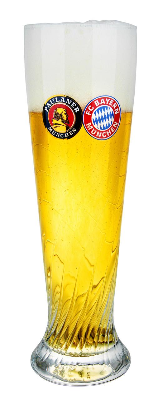 Paulaner FC Bayern Wheat Beer Glass 0.5 Liter