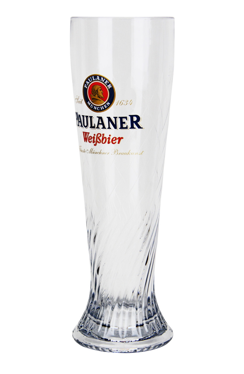 Authentic Traditional Paulaner German Beer Glass 0.5 Liter