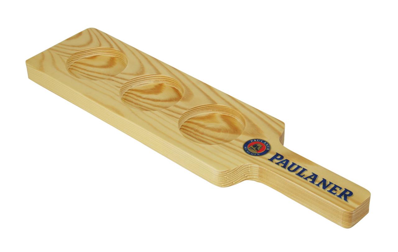 Paulaner branded taster paddle