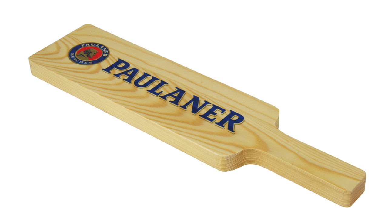Paulaner Wooden Tasting Glass Paddle with 3 Glasses
