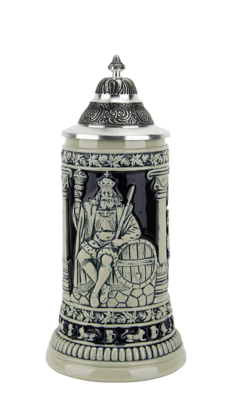 Gambrinus The Beer King Stein Cobalt   0.3 Liter