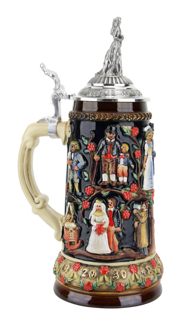 Collectible German Beer Stein with Lid
