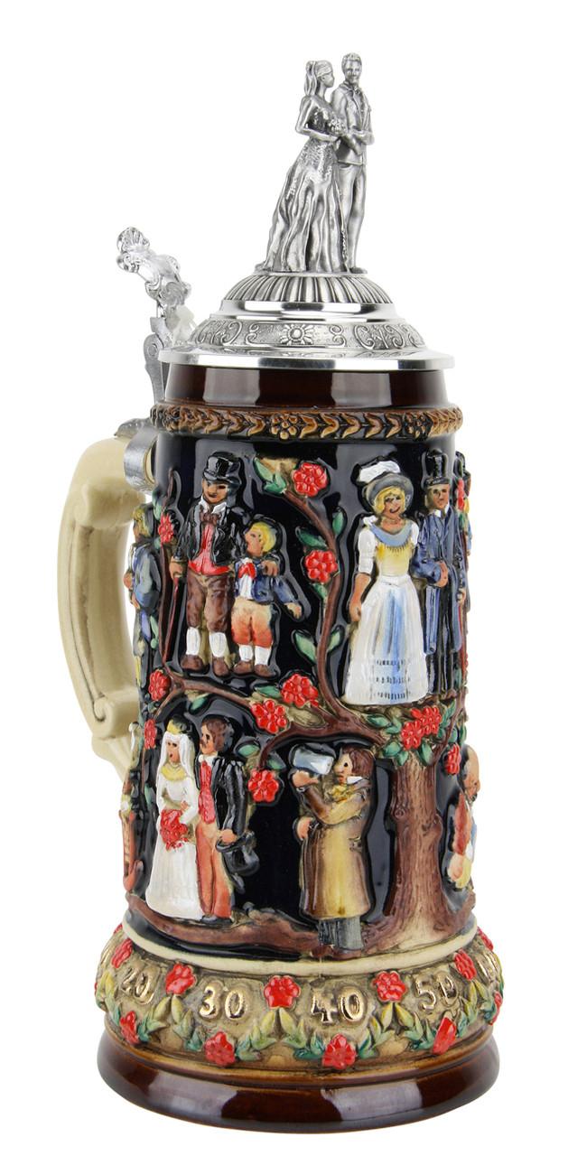 Stein Of Life Wedding Beer Stein Wedding Couple Lid Germansteins Com