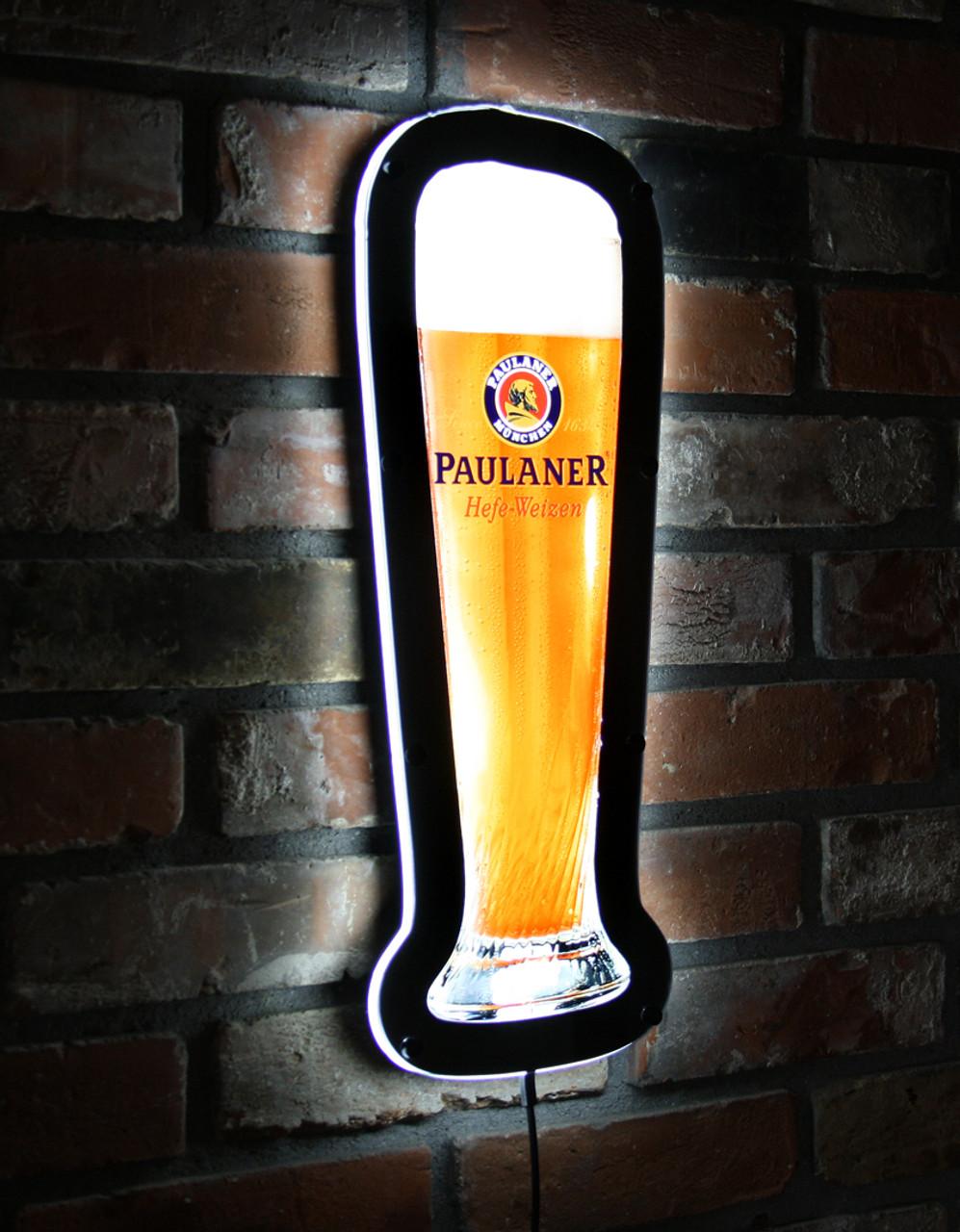 LED sign shown lit.