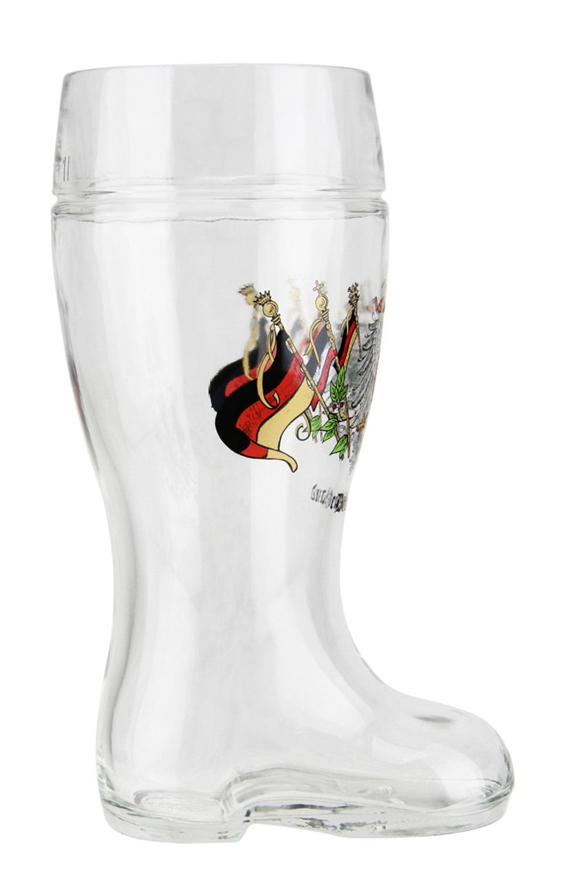 Personalized Deutschland Glass Beer Boot Mug 1 Liter
