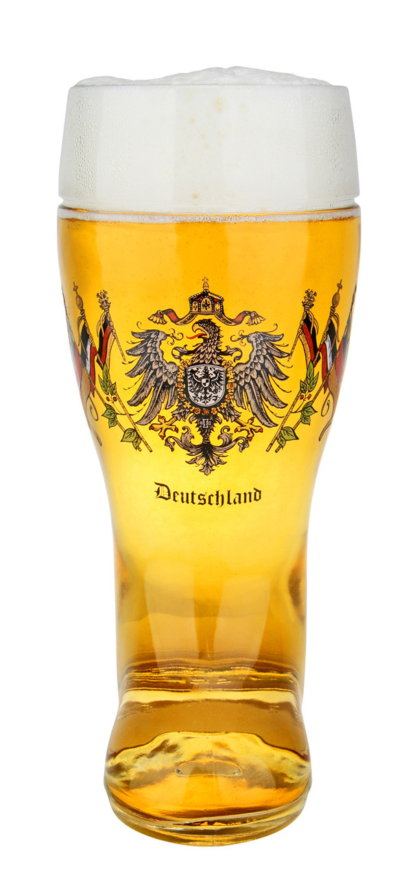 Authentic German Beer Boot Mug 1 Liter with Deutschland Crest
