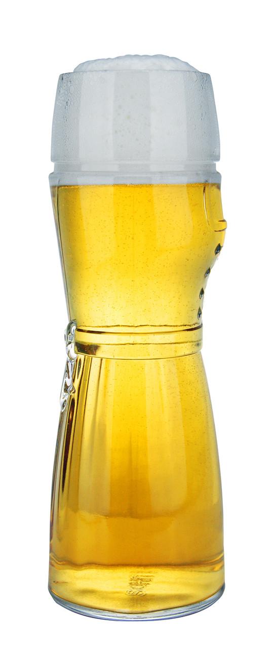 Authentic German Beer Glass Full of Beer