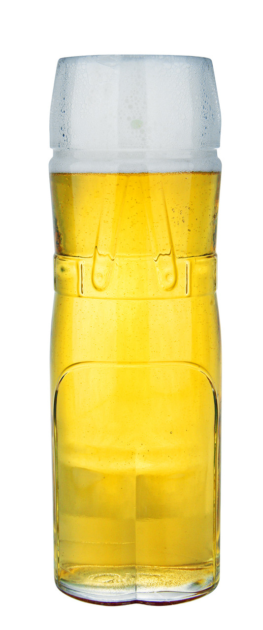 German Wheat Beer Glass - Lederhosen Style