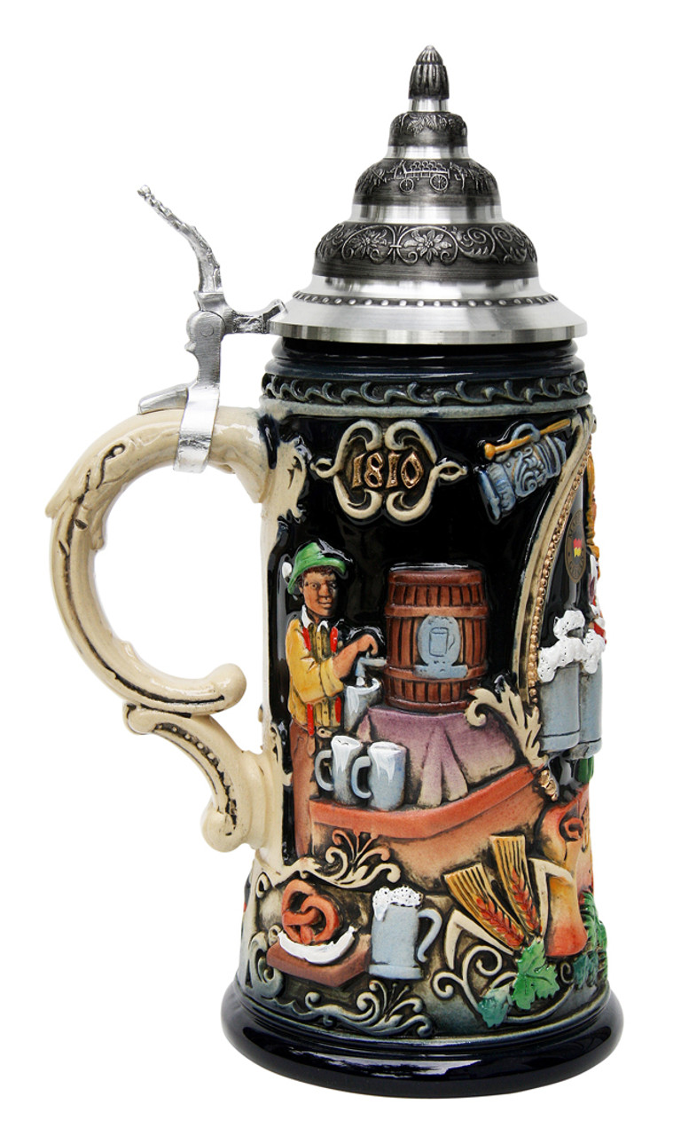 Traditional German Oktoberfest Party Stein with Lid