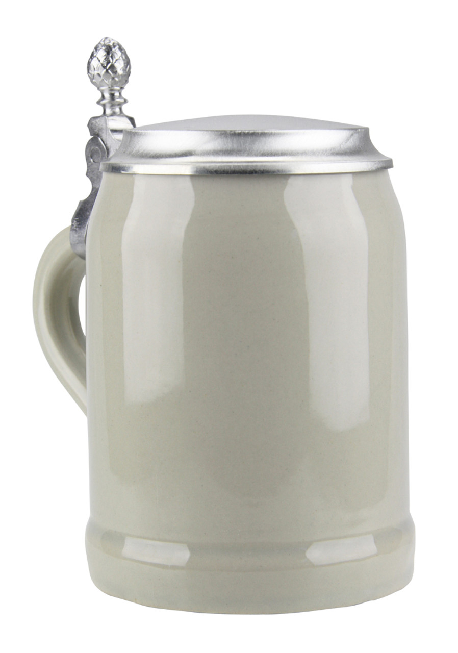 Half Liter Ceramic Beer Stein with Lid