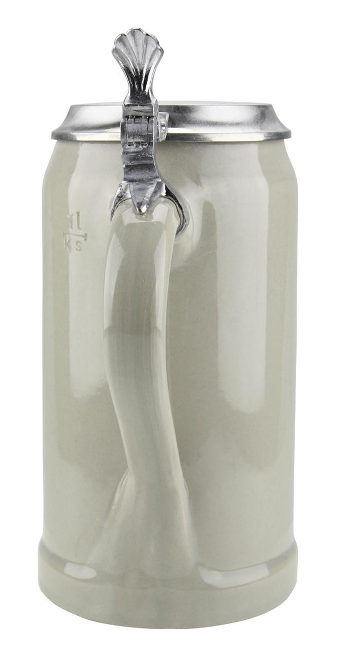 1 Liter Ceramic Beer Stein with Lid