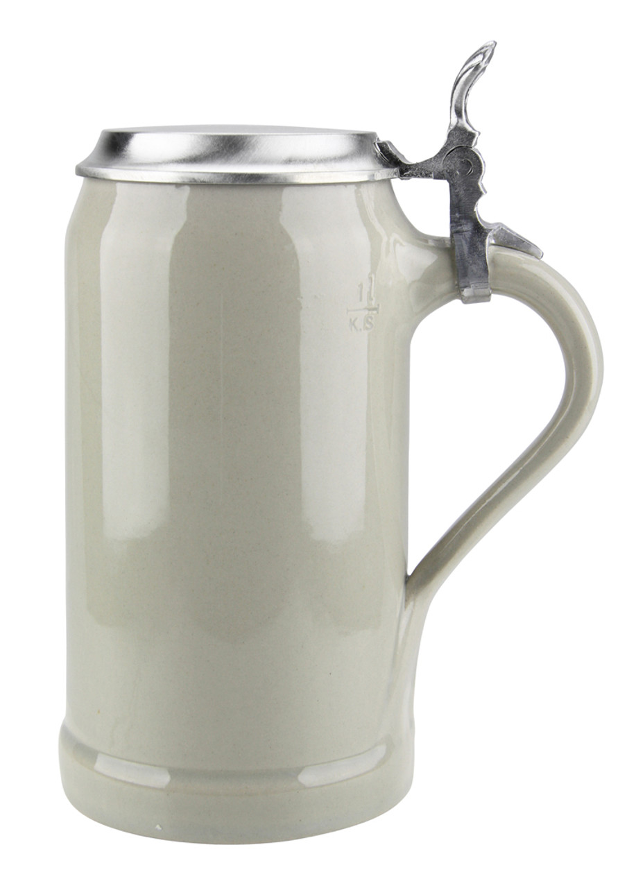 1 Liter Ceramic Beer Stein with Thumblift