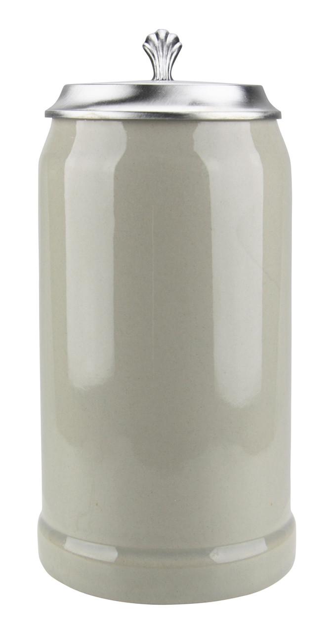 Side View of Ceramic 1 Liter Beer Stein