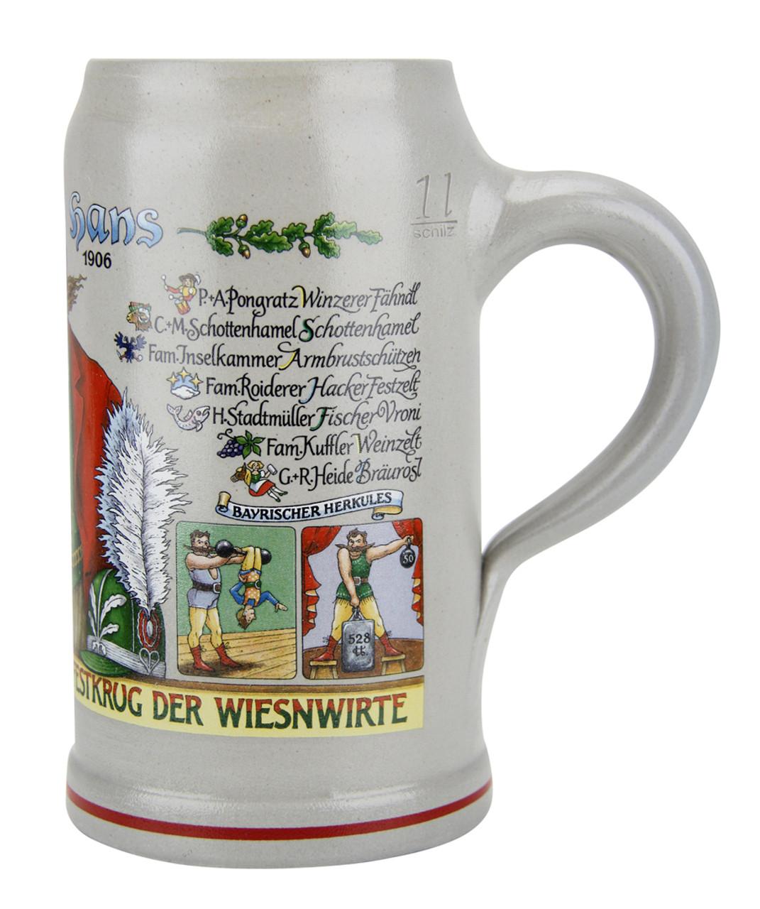 Oktoberfest Wirtekrug Ceramic Beer Mug