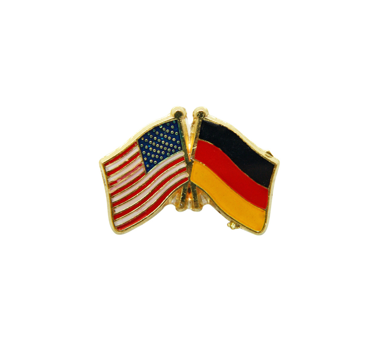 USA and German Flags German Hat Pin