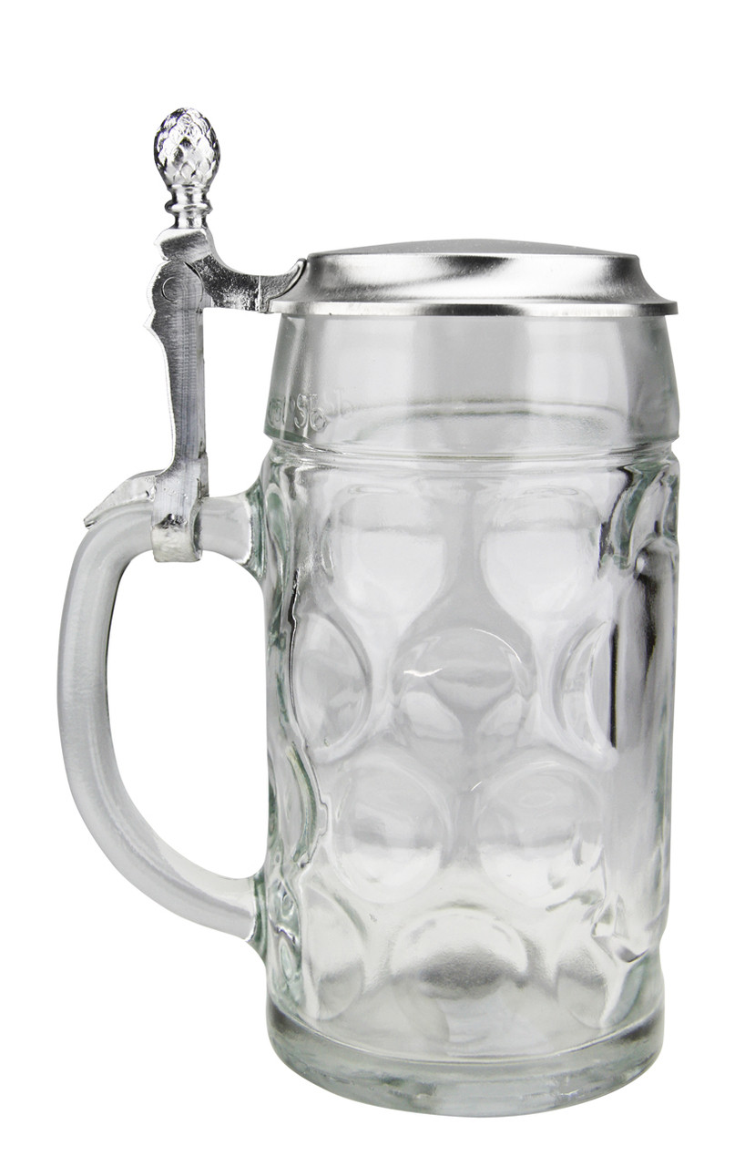 Custom Engraving for German Beer Stein with Pewter Lid