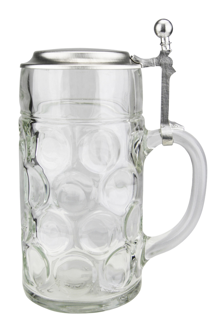 German Beer Glass with Lid