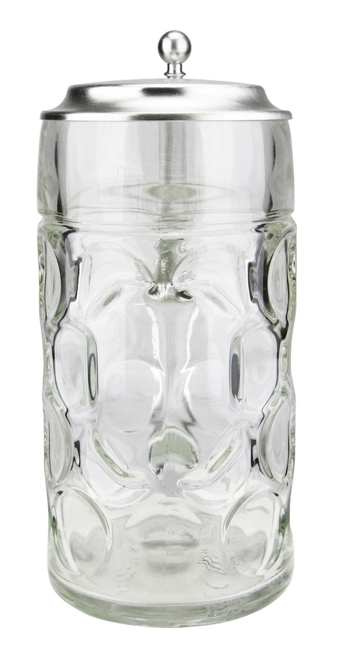 Traditional German Glass Beer Mug