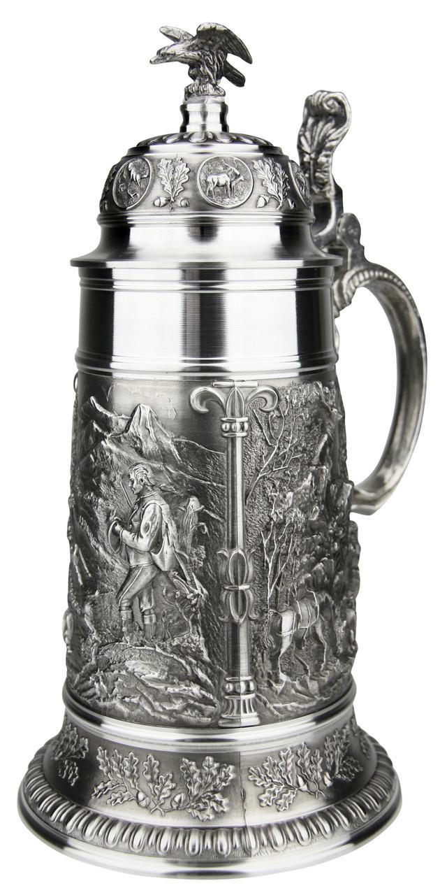 Marksman Hunter Pewter Beer Stein 1 Liter