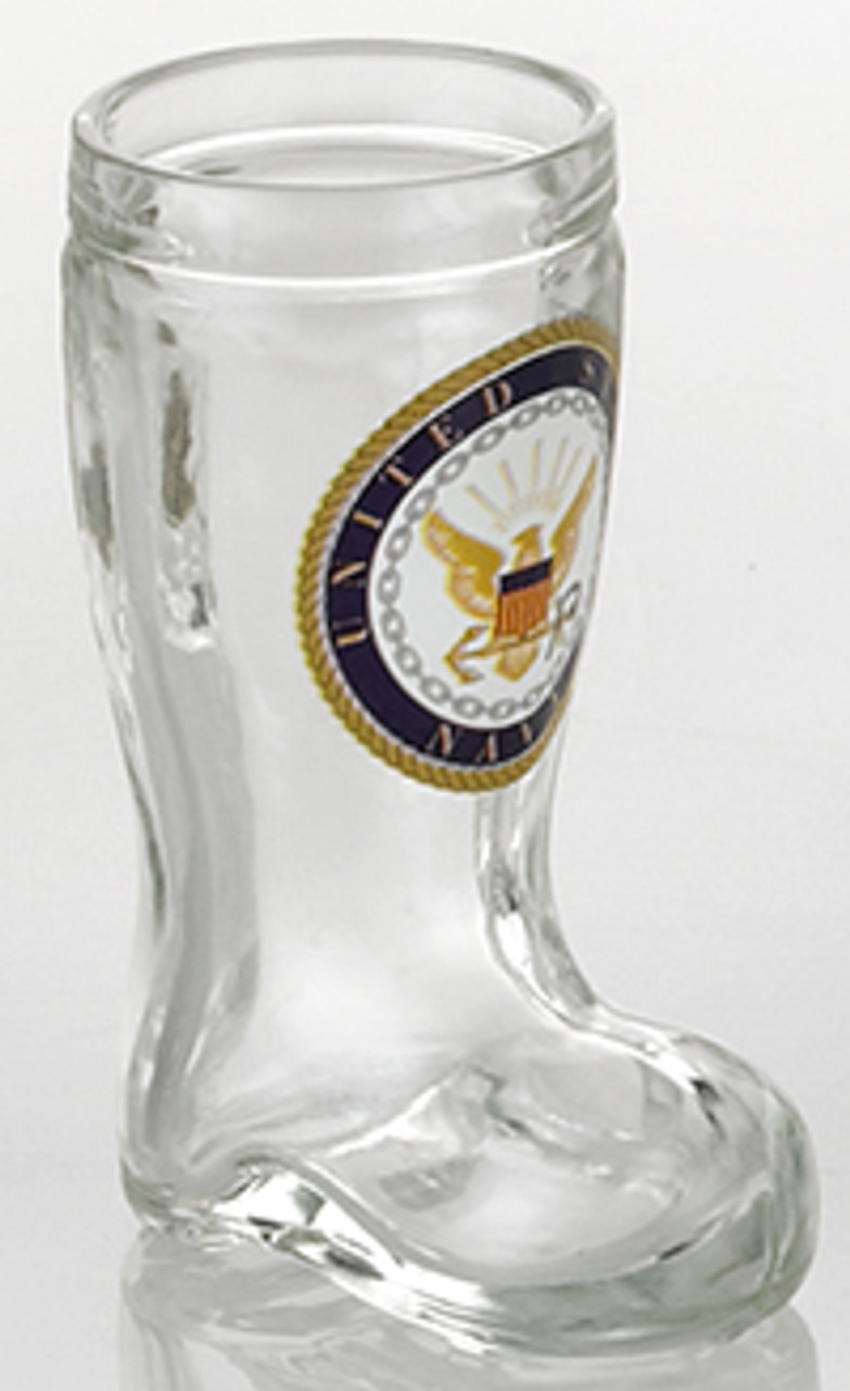 Navy Beer Boot Shot Glass