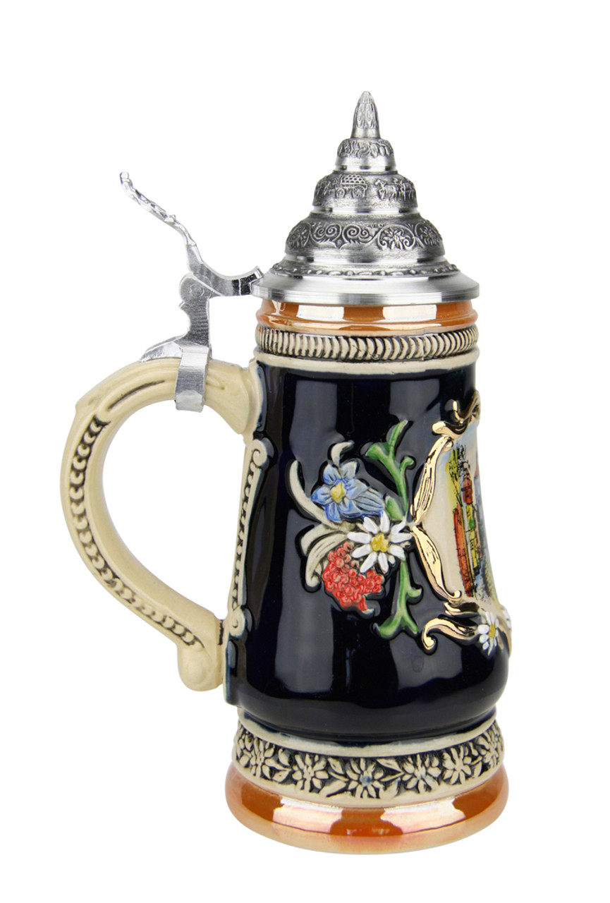 3/10 Liter Hand-Painted German Stein for Wedding Gift