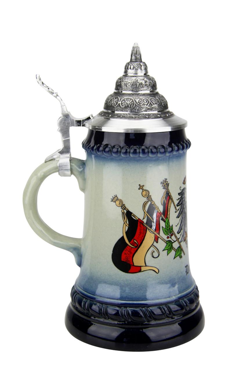 """.25 Liter German Beer Stein with """"Deutschland"""" Below Flag Crest"""