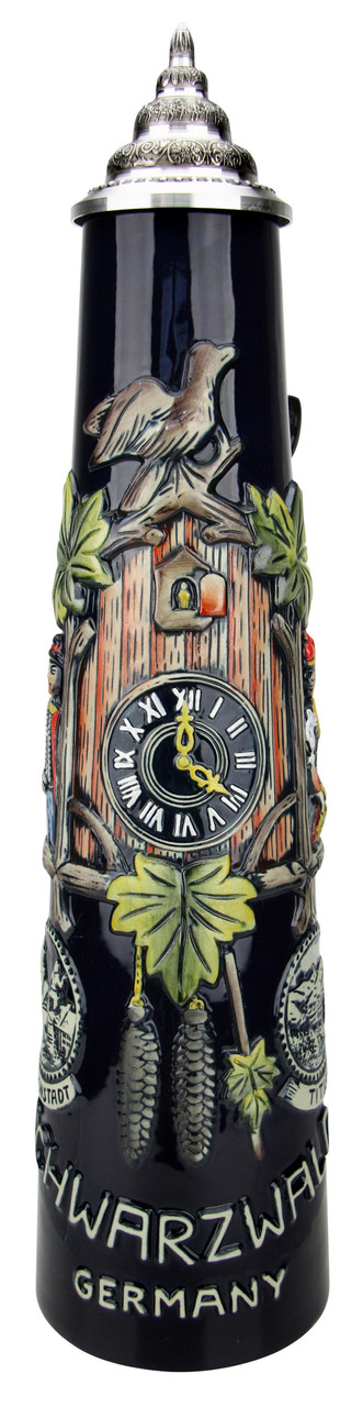 Schwarzwald Black Forest Cuckoo Clock Jug Stein | 2 Liter