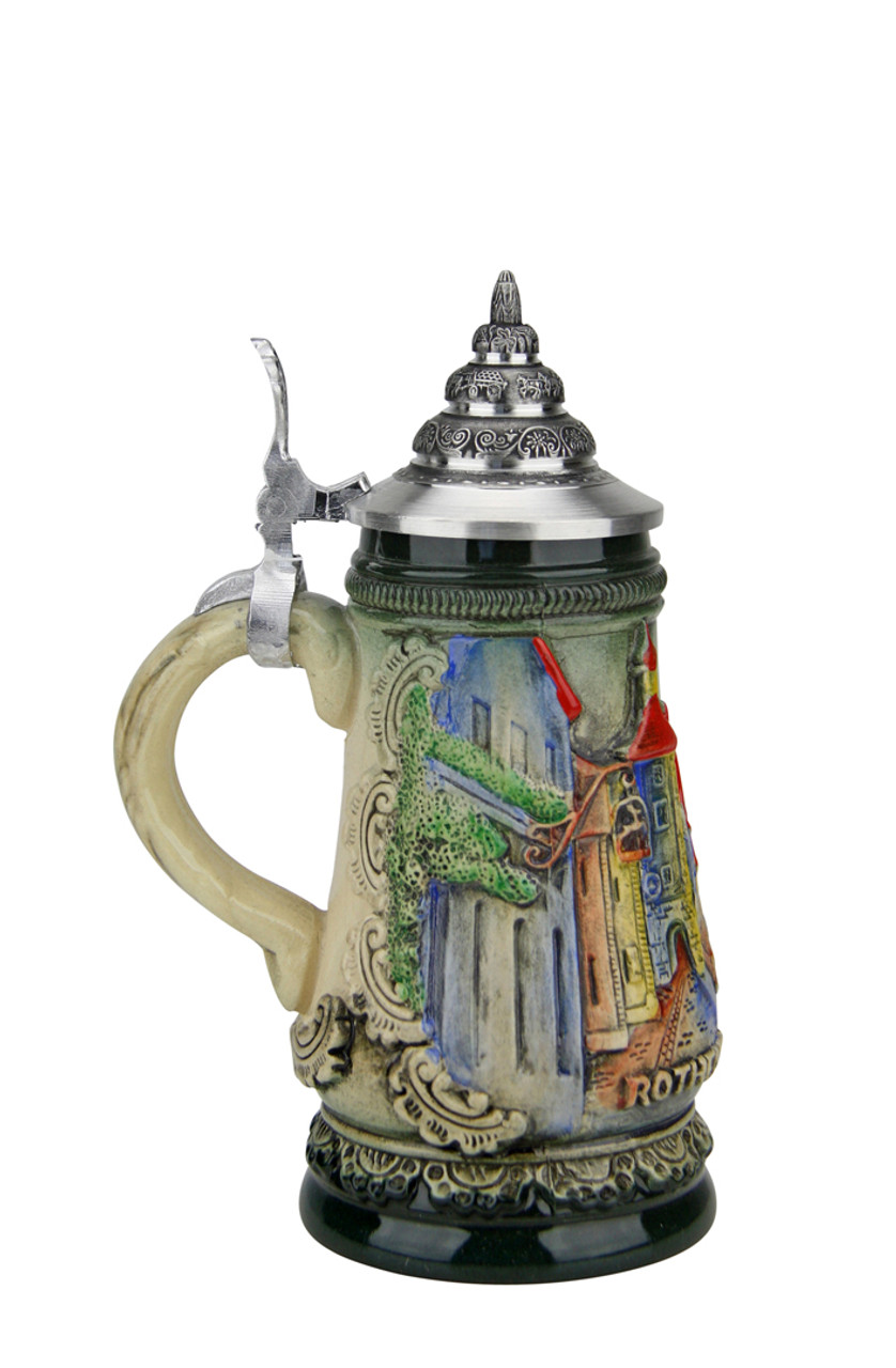 Mini German Stein of Rothenburg Over the Tauber River