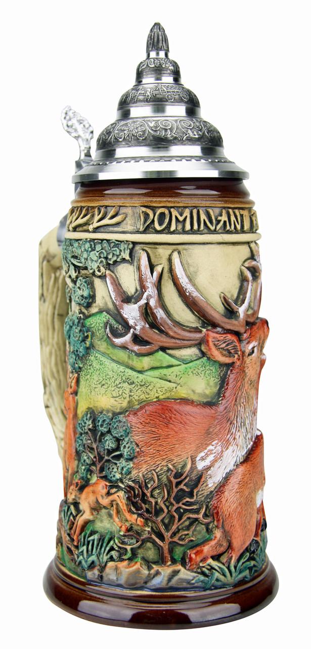 Dominant Buck Beer Stein Rustic