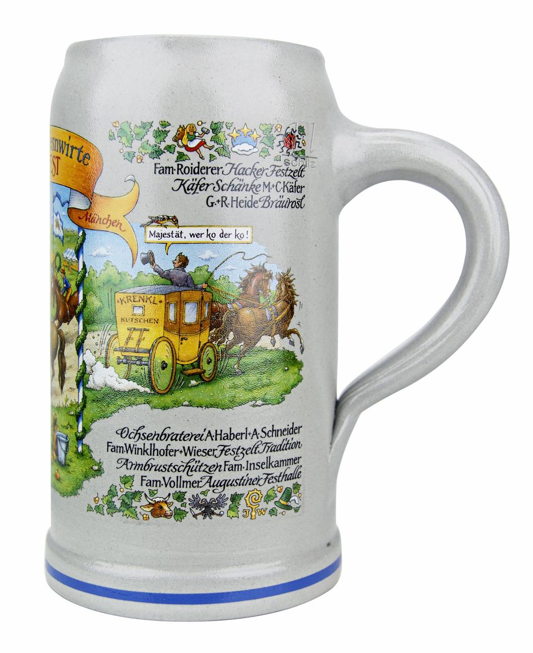 Official Munich Oktoberfest 2015 Wirtekrug Salt Glaze Beer Mug