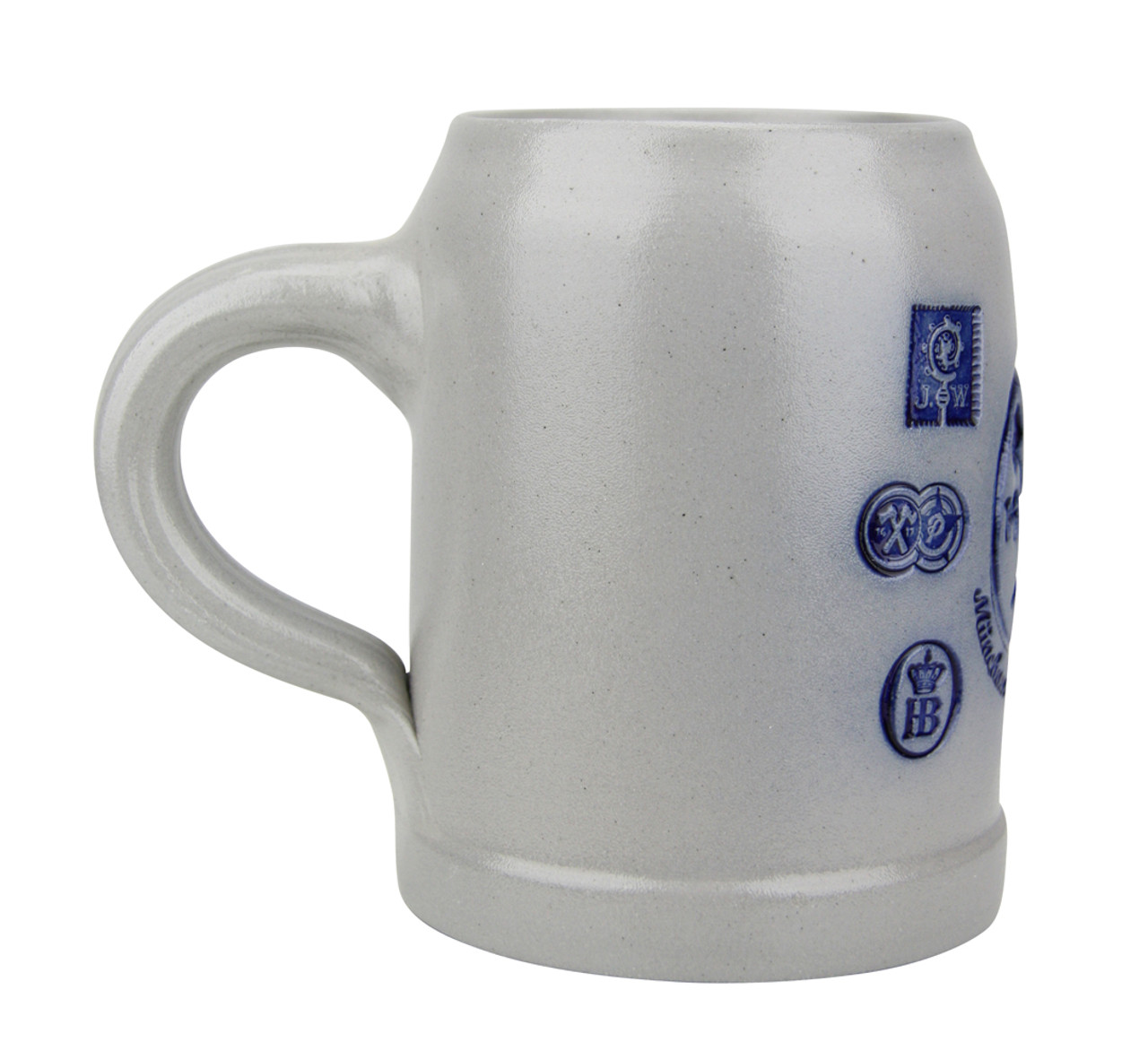 Munich Purity Law 1487 0.5 Liter Salt Glaze Stoneware Beer Mug