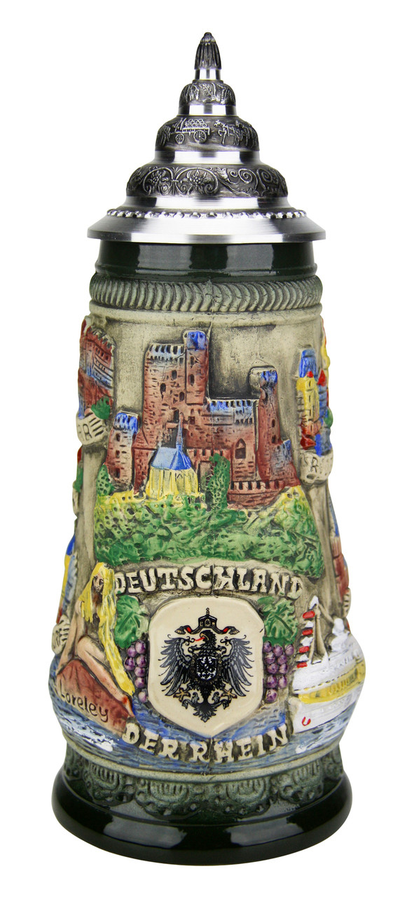 Rhein River Beer Stein Rustic