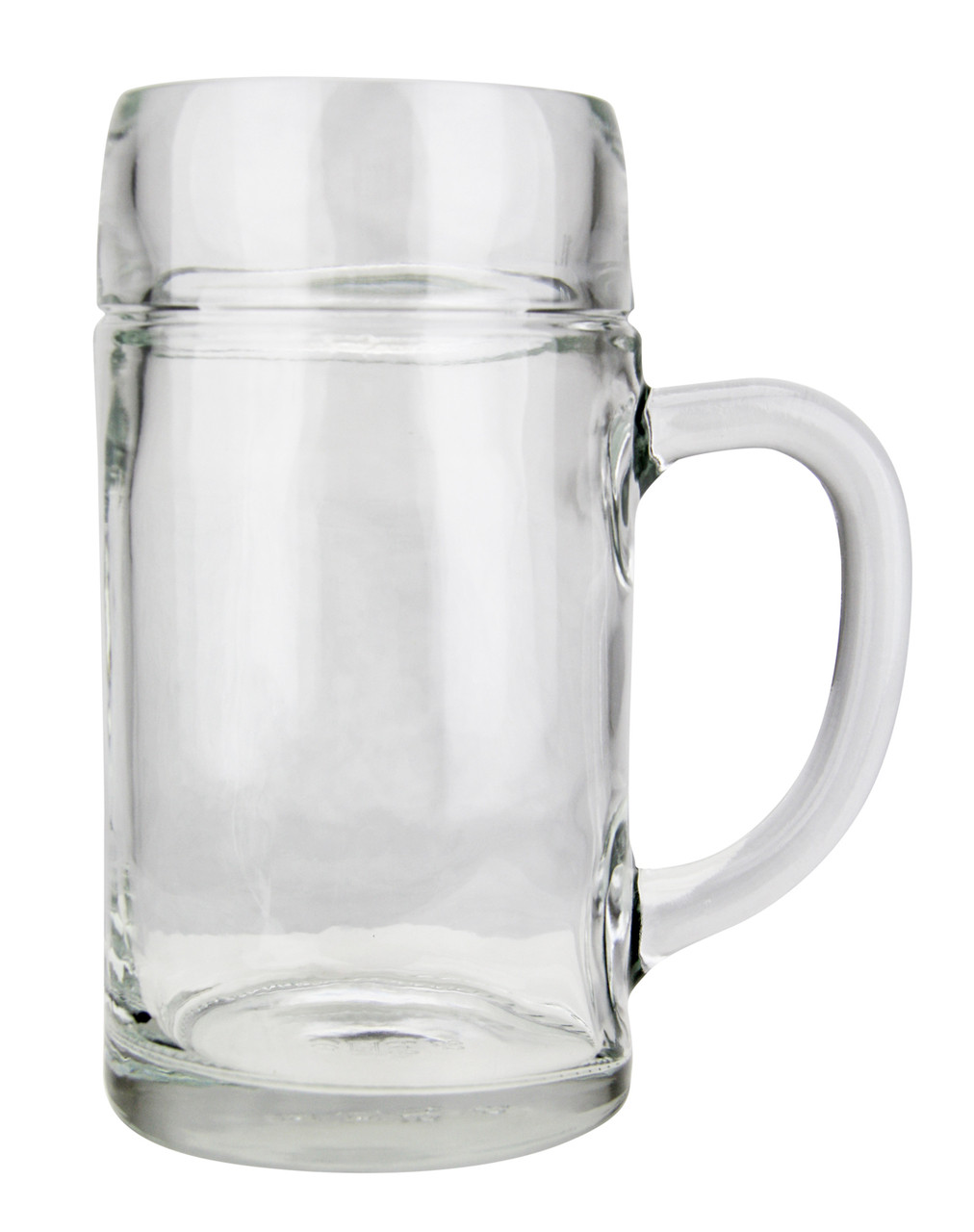 Left Side View, 1 Liter Styria Smooth Body Oktoberfest Glass Beer Mug , Empty