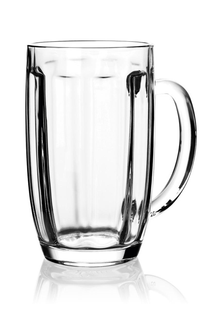 0.5 Liter Bohmisches Glass Beer Mug, Empty