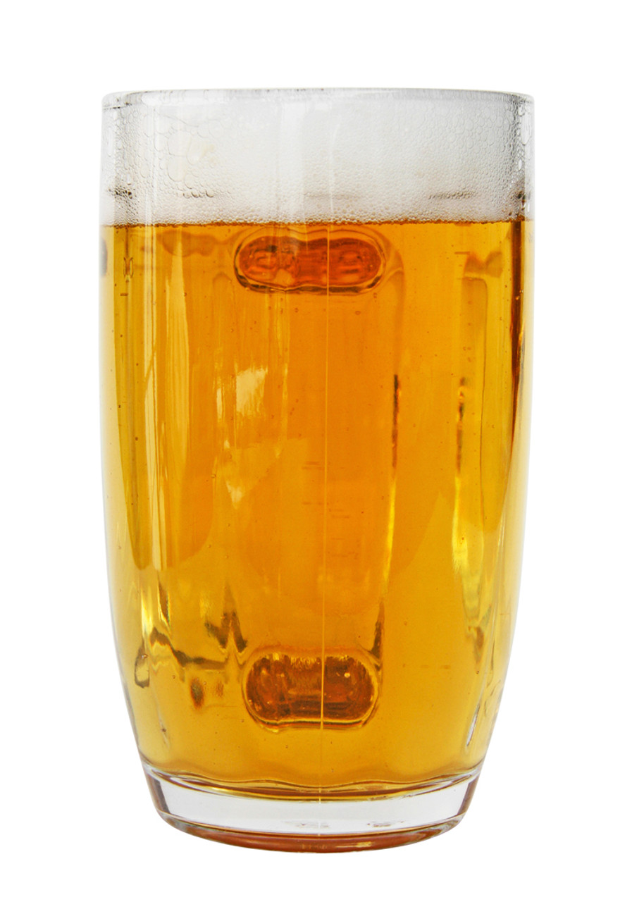 Front View Traditional German Glass Beer Mug