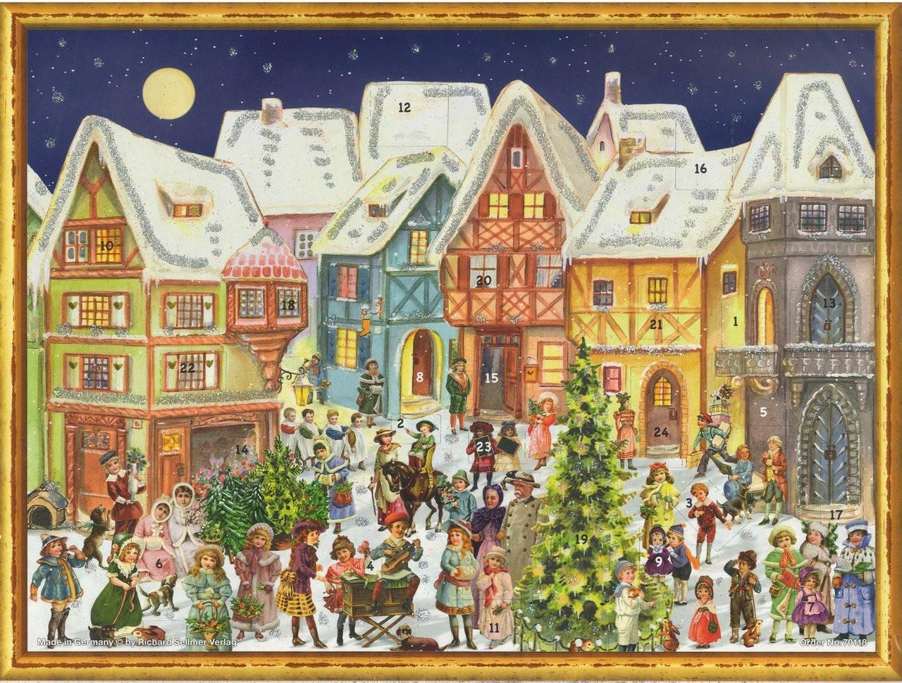 Victorian Village During Christmas German Advent Calendar