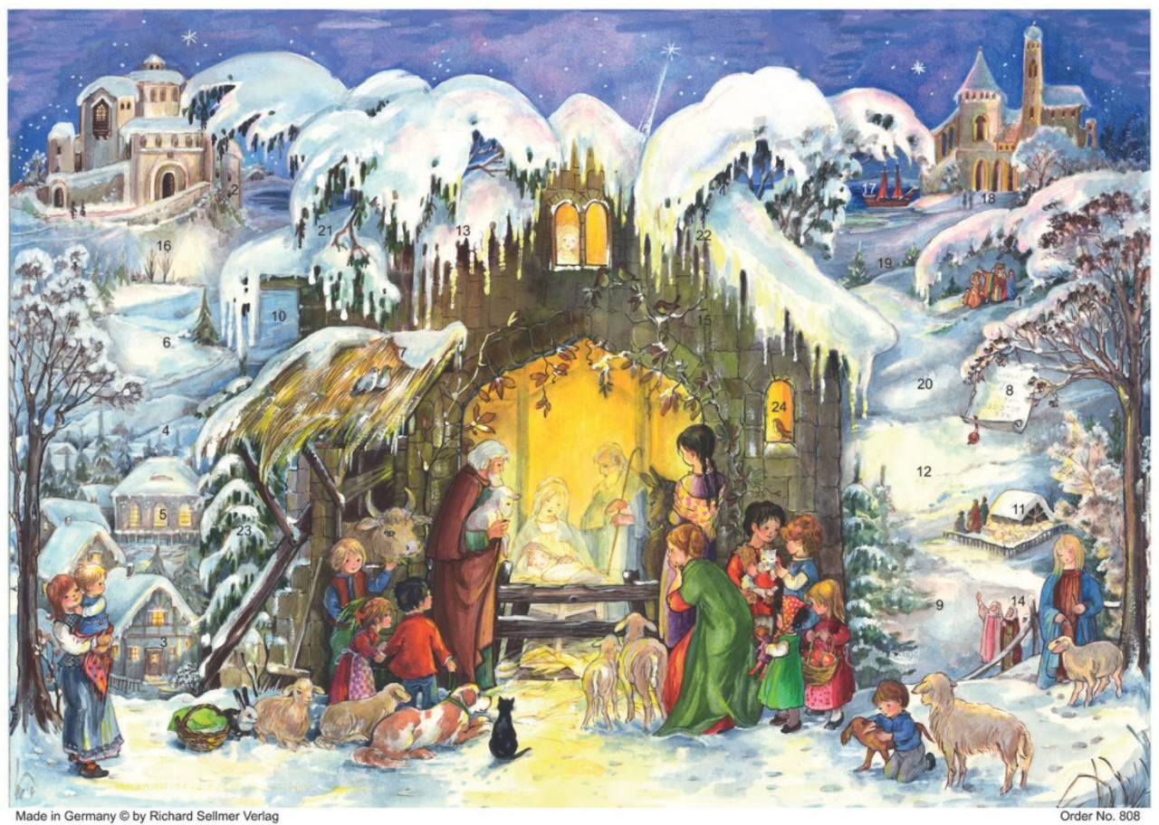 Nativity Scene German Advent Calendar