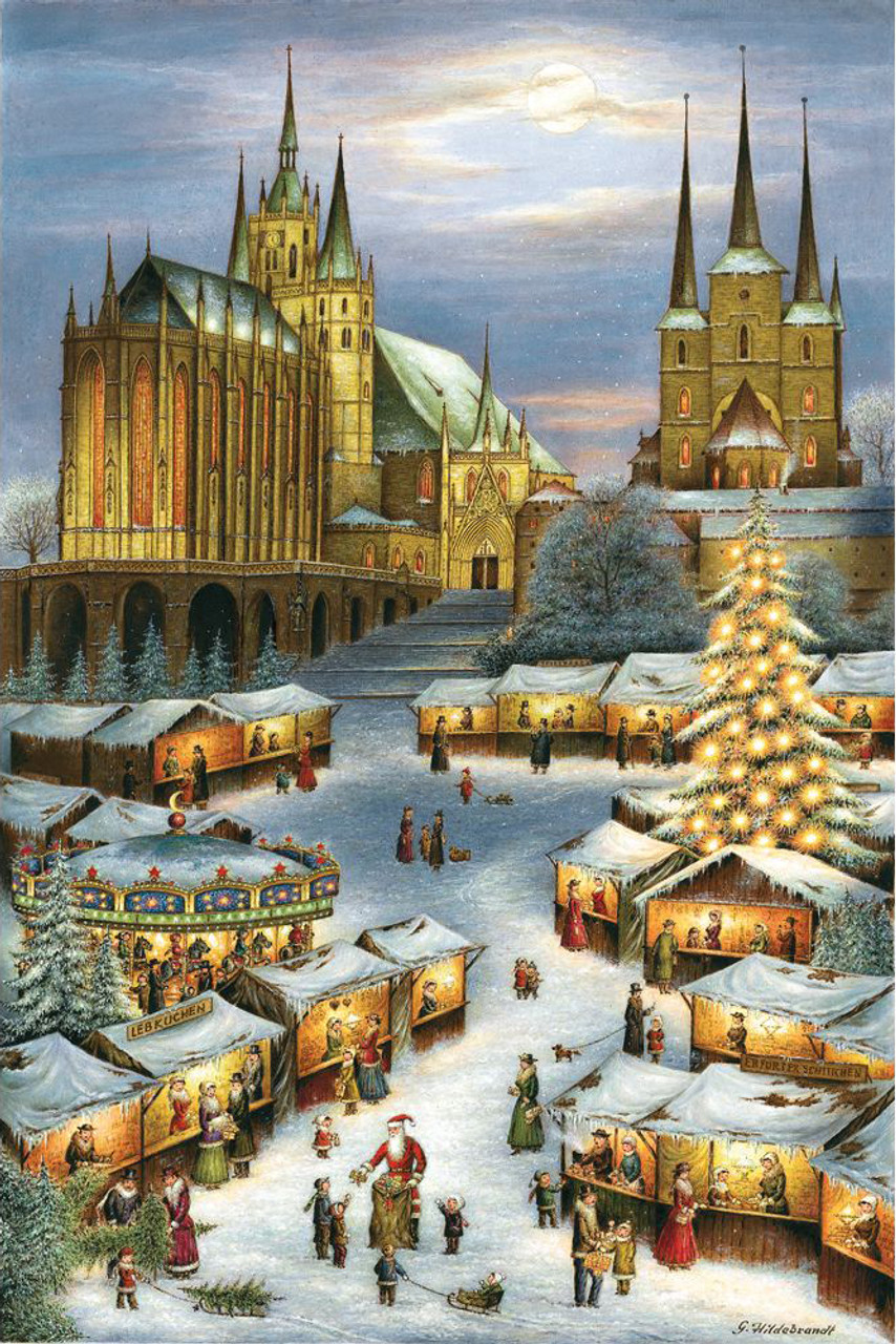 Erfurt Christmas Market Large German Advent Calendar
