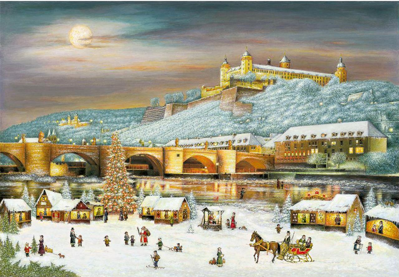 Christmas Market in Wurzburg German Advent Calendar