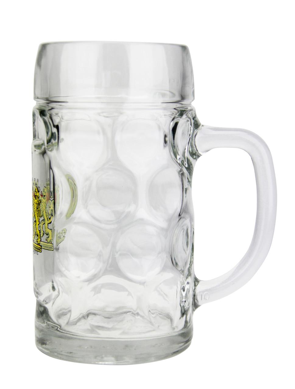 Traditional German Personalized Glass Beer Mug