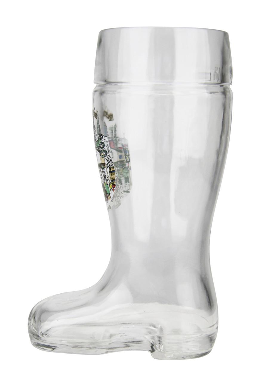 0.5 Liter Oktoberfest German Beer Boot with Custom Engraving
