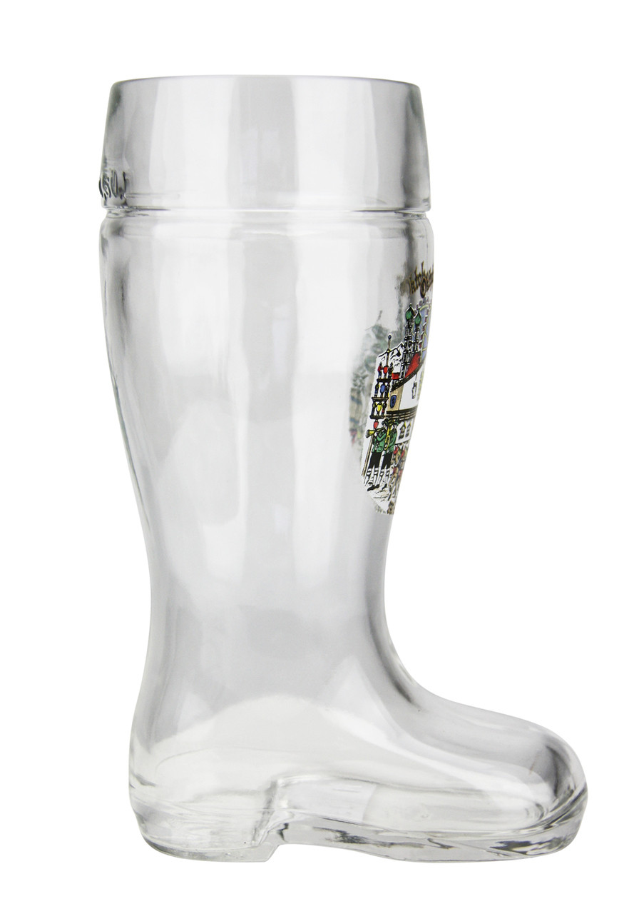 Personalized German Beer Boot with Oktoberfest Motif