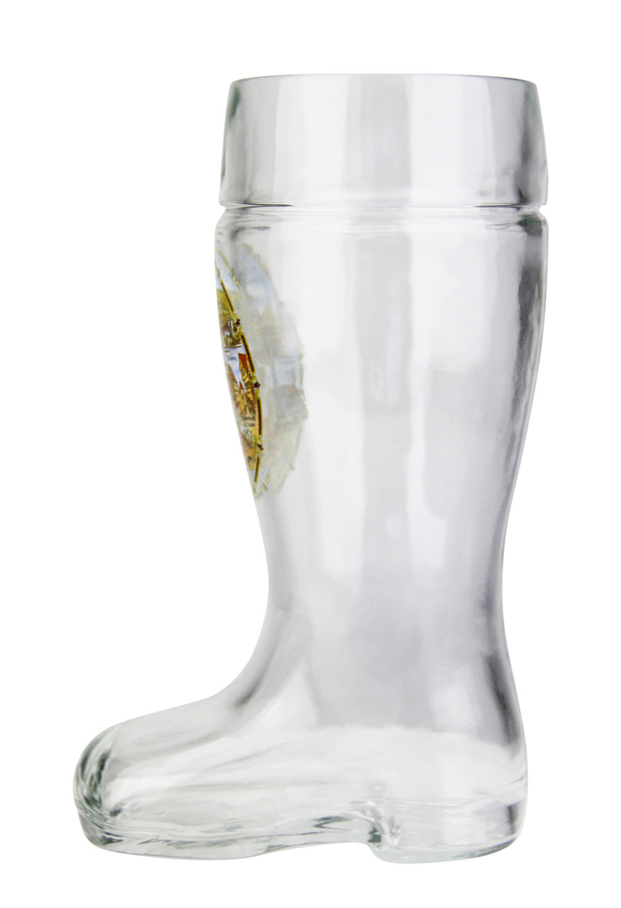 Side View of Authentic .5 Liter German Beer Boot