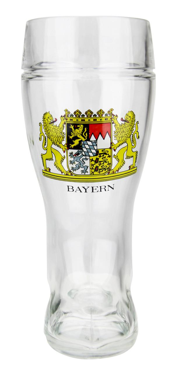 Custom Engraved 1 Liter Bavarian German Glass Beer Boot