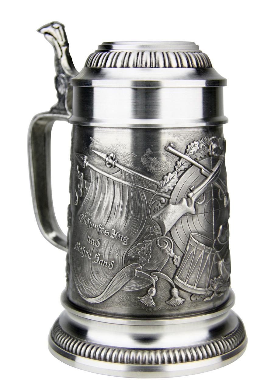 Marksman Pewter Beer Stein