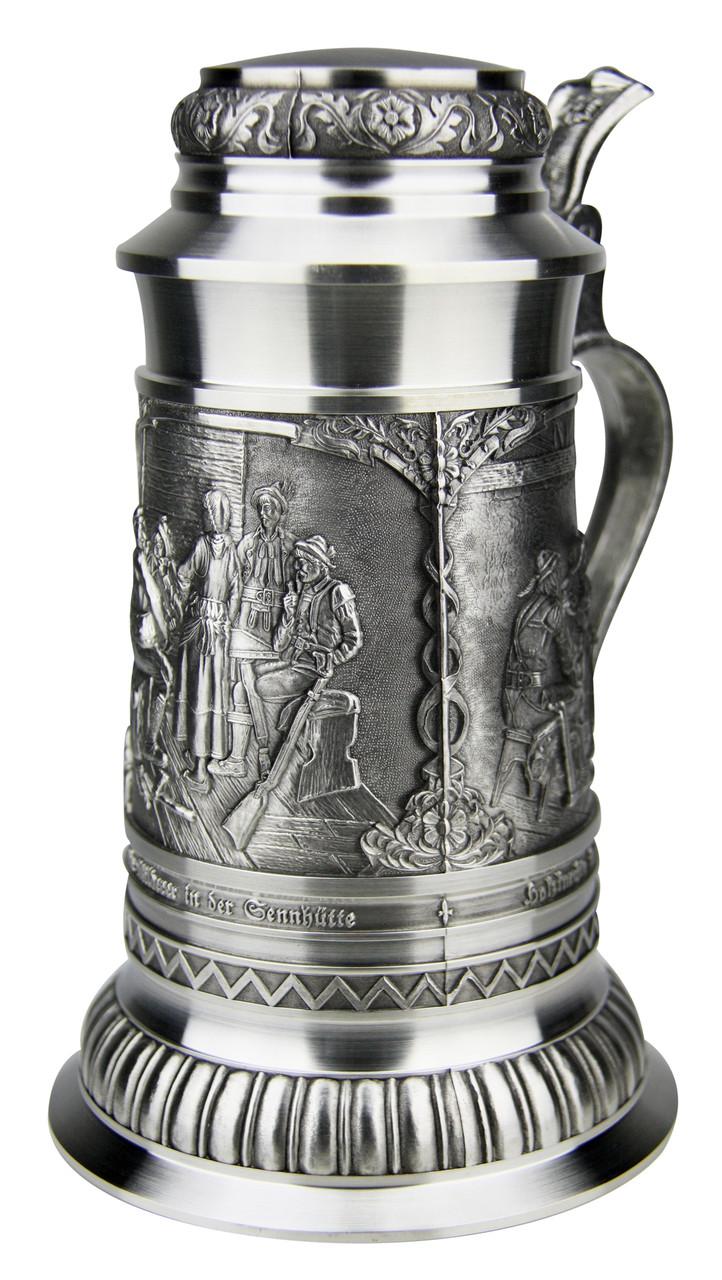 Defregger Pewter Beer Stein | 1 Liter