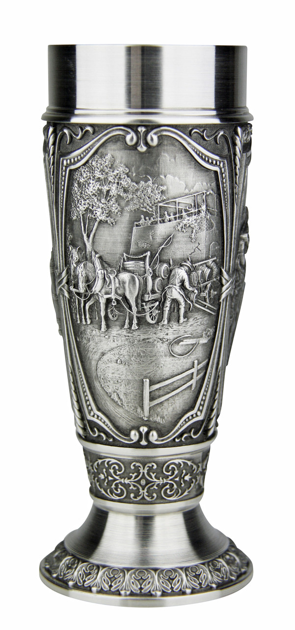 Solid Pewter Tulip Cup for Beer